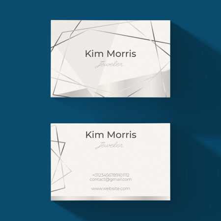 Pearl Shimmer Business Cards