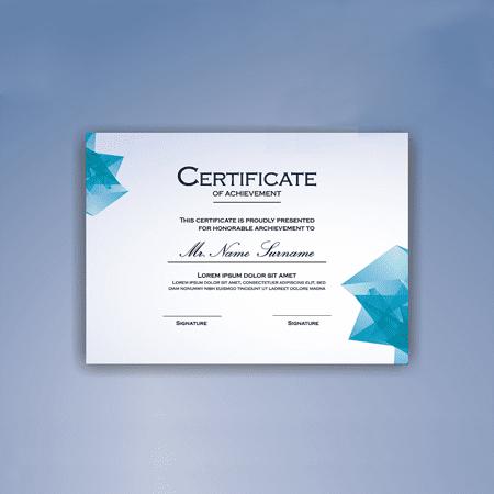 Certificates - Standard