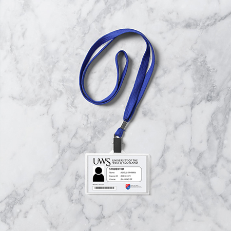 Plastic ID Cards with Holder Set