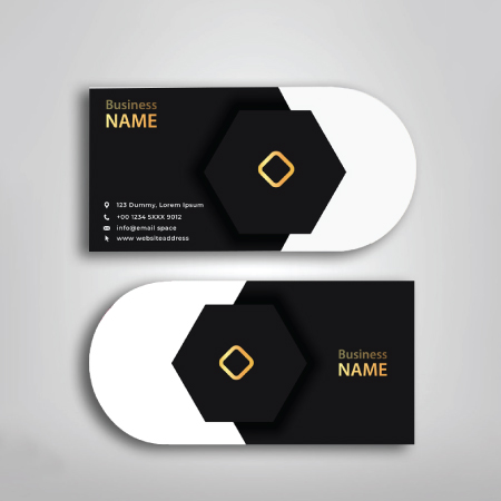 Business Cards- Half Circle