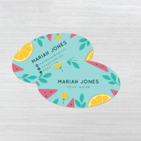Business Cards - Oval Shaped