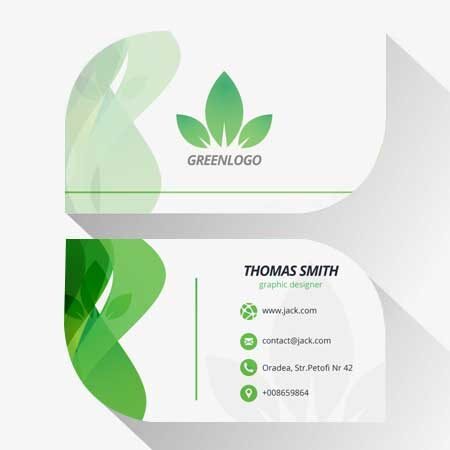 Business Cards - Leaf Shaped